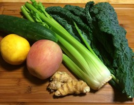 All you need for Green Giant Juice made by Chef Brenda Hinton with the More than a NUT MILK BAG from Rawsome Creations