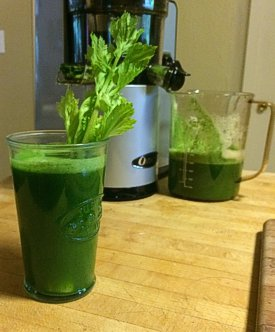 Green Giant Juice made by Chef Brenda Hinton with the More than a NUT MILK BAG from Rawsome Creations