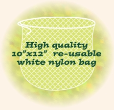 The More than a NUT MILK BAG is a reusable 10 x 12 inch Nut Milk/Juicing/Sprout Bag hand-made with high-quality fine mesh nylon.