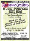 CLICK FOR NUT MILK BAG INFO: Rawsome Creations new MULTI-PURPOSE NET BAGS are more open mesh bags that we use for straining large-grained products, and for storage when some air circulation is desired. High-quality nylon 10 x 12 inch nut milk and sprouting bags with open mesh are ideal for any number of straining, juicing or sprouting uses.