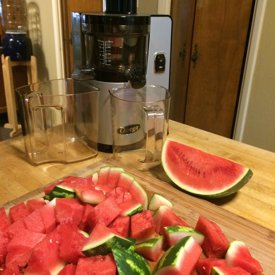 Ingredients for Watermelon Juice made by Chef Brenda Hinton with the More than a NUT MILK BAG from Rawsome Creations