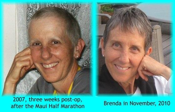 Brenda in 2007 and in 2010