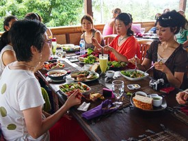 Lunch at Sari Organics. Photo by Brenda Hinton, Bali, February 2014