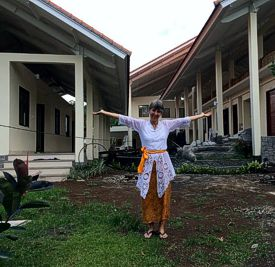 Brenda at the new Bumi Sehat clinic (photo by Mary-Margaret)