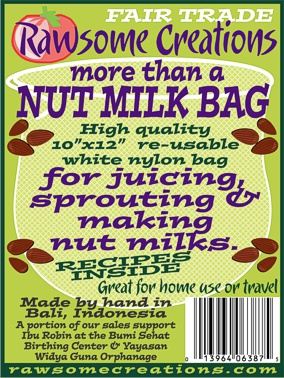 Rawsome Creations More than a NUT MILK BAG: 10 x 12 inch Nut Milk/Juicing/Sprouting Bag