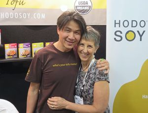 Brenda with Minh Tsai, founder of Hodo Soy