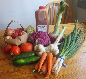 My webster's May farmers market haul (photo by Sienna M Potts)